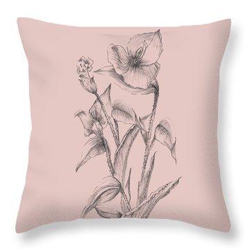 Pretty Pink Flower I Throw Pillow