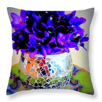 Pretty Purple Petals O T T Throw Pillow
