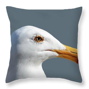 Pretty Western Gull In Profile Throw Pillow