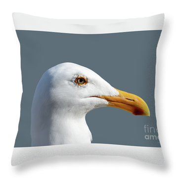 Pretty Western Gull In Profile Throw Pillow