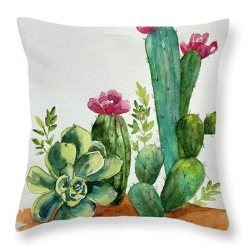 Prickly Cactus Throw Pillow