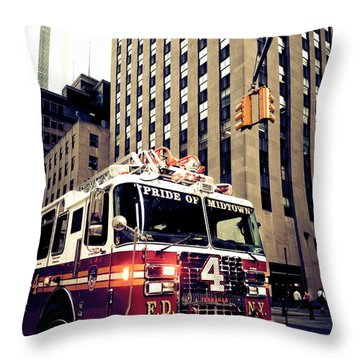 Pride Of Midtown Throw Pillow