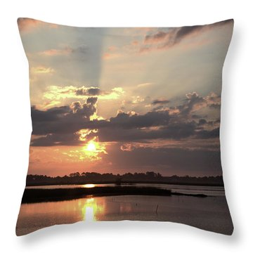 Throw Pillow featuring the photograph Prime Hook Sunrise 3 by Buddy Scott