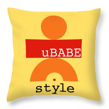Primitive Yellow Throw Pillow