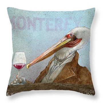 Prince Of Pinot, The Throw Pillow