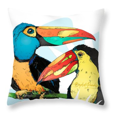 Throw Pillow featuring the digital art Promo by Lucas Boyd