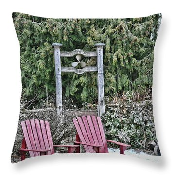 Prop Chairs Throw Pillow