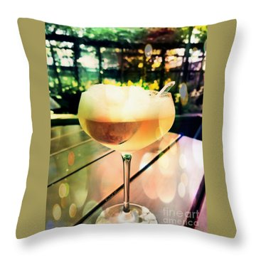 Throw Pillow featuring the photograph Prosecco Float by Rachel Maynard