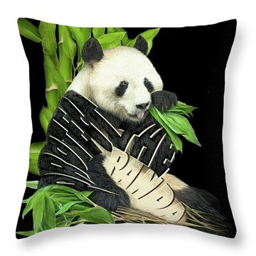 Protect The Panda Throw Pillow