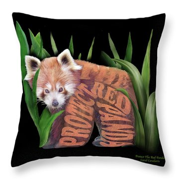 Protect The Red Panda Throw Pillow
