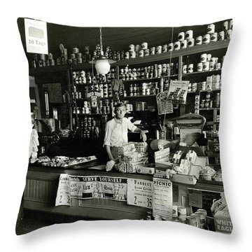 Proud Store Owner Throw Pillow
