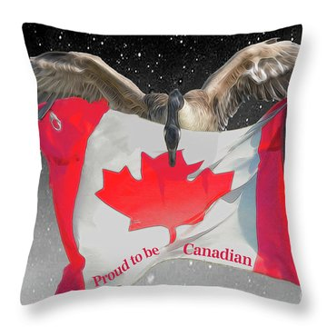 Proud To Be Canadian Throw Pillow