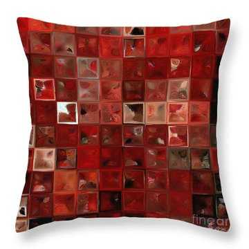 Throw Pillow featuring the painting Psalm 3 3 . The Lord, A Shield Around Me by Mark Lawrence