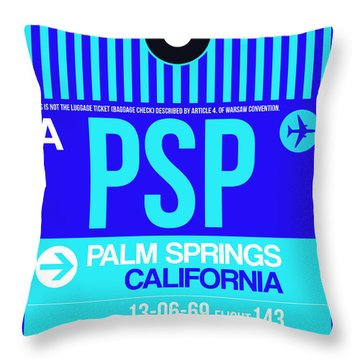 Psp Palm Springs Luggage Tag II Throw Pillow