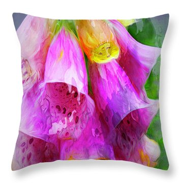 Psychedellic Pinkbells Throw Pillow