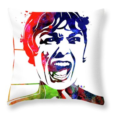Psycho Watercolor Throw Pillow