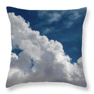 Puffy White Clouds Throw Pillow