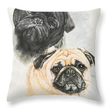 Pug Brothers Throw Pillow