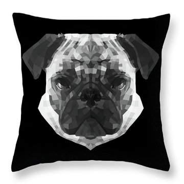 Pug's Face Throw Pillow