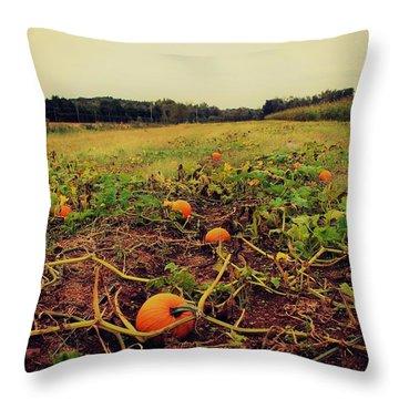 Pumpkin Picking Throw Pillow