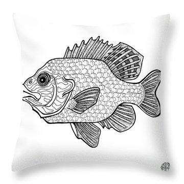 Pumpkinseed Fish Throw Pillow