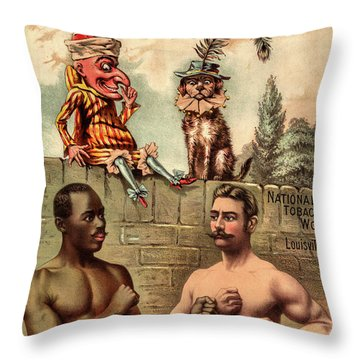 Punch Plug Tobacco Throw Pillow