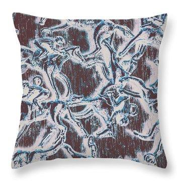Punting Pattern Throw Pillow