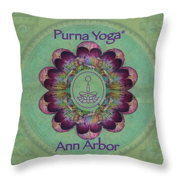 Purna Yoga Ann Arbor Throw Pillow
