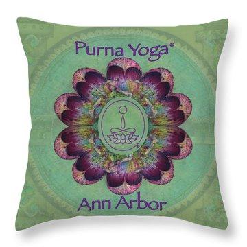 Purna Yoga Ann Arbor Throw Pillow