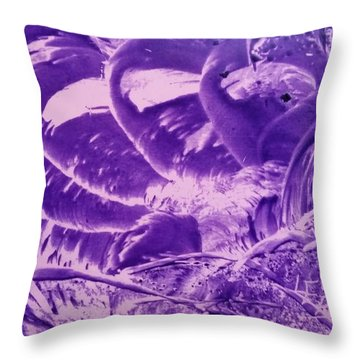 Purple Abstract, Octopus Throw Pillow