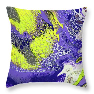 Purple And Yellow Throw Pillow