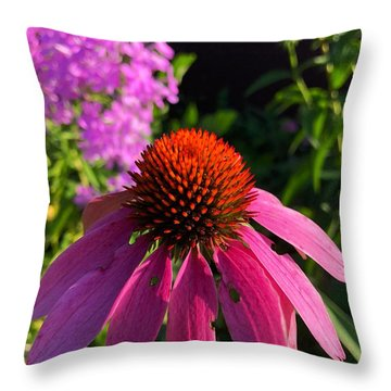 Throw Pillow featuring the photograph Purple Coneflower by Lukas Miller
