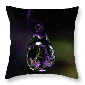 Throw Pillow featuring the photograph Purple Dreams by Michelle Wermuth