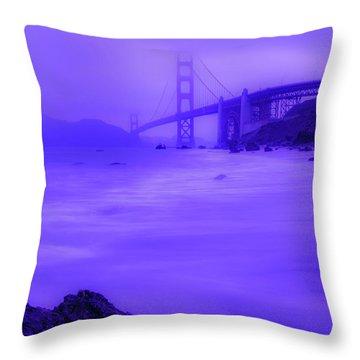 Purple Golden Gate Fog Throw Pillow