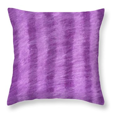 Purple Hazy Nights Throw Pillow