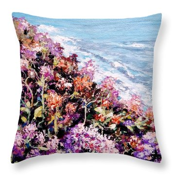 Throw Pillow featuring the painting Purple Landscape by Ray Khalife