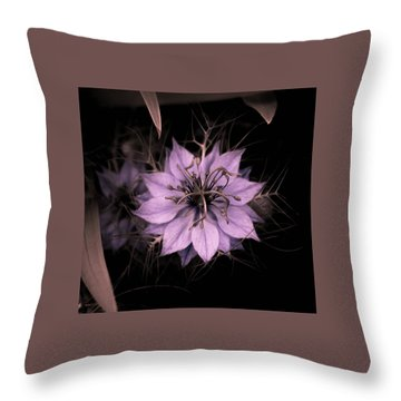 Purple Peculiarity Throw Pillow