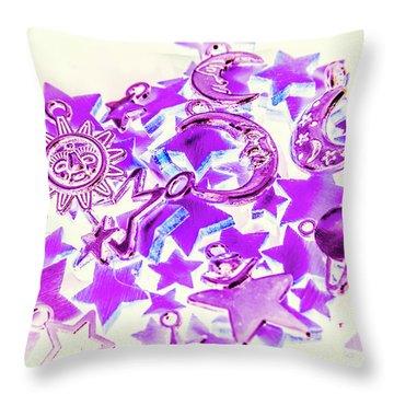 Purple Planetarium Throw Pillow
