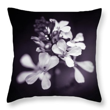 Throw Pillow featuring the photograph Purple Tears by Michelle Wermuth