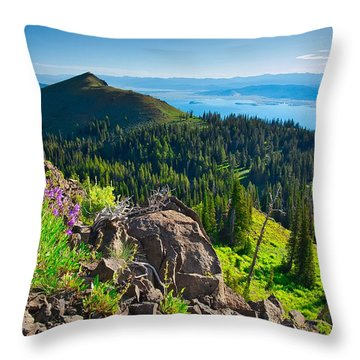 Purple Vista Throw Pillow