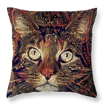 Mystic In Paisley Throw Pillow