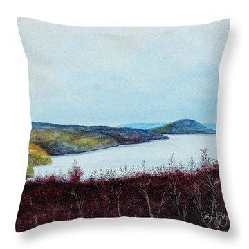 Quabbin Reservoir Throw Pillow