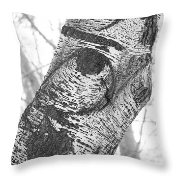 Quail In The Poplar Tree Throw Pillow