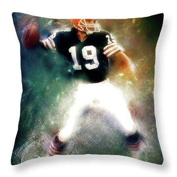 Quarterback Bernie Kosar Throw Pillow
