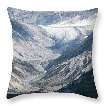 Queen Inlet Glacier Throw Pillow