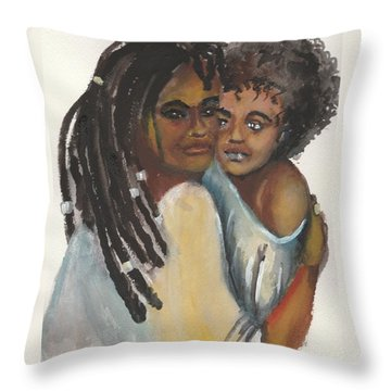 Throw Pillow featuring the painting Queen Love by Saundra Johnson