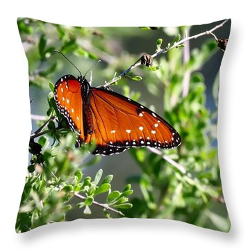 Queen On Creosote Throw Pillow