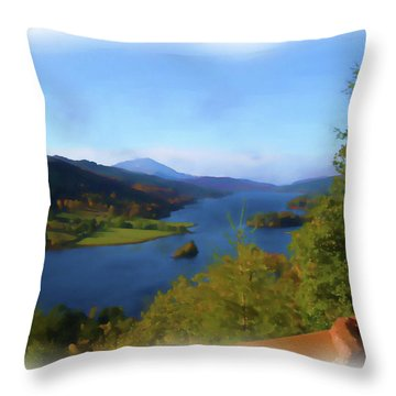 Queens View Painting Throw Pillow
