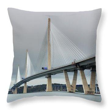 Queensferry Crossing Bridge 3-1 Throw Pillow