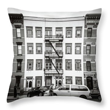 Throw Pillow featuring the photograph quick delivery BW by Steve Stanger